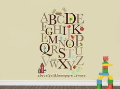 Alphabet Vinyl Decals for Kids Room or Library Decor