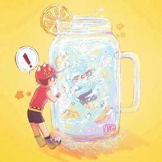 No photo description available. Boboiboy Anime, Anime Chibi, Anime Art, Anime Galaxy, Boboiboy Galaxy, Cartoon Movies, Cartoon Art, Adventure Time Flame Princess, My Childhood Friend