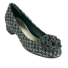 Chanel ~ Tweed Flower Ballet Flats