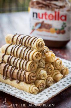 Nutella Stuffed Crepes & 3 Ways to Fold Them   By LetTheBakingBeginBlog.com   @Letthebakingbgn #recipe