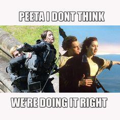 HAHAHAHAHAHAHA!!!! Titanic: Mockingjay version!!! :D