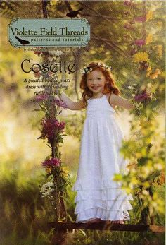 """""""Cosette""""+Pleated+Maxi+Dress+Pattern+by+Violette+Field+Threads,+2T-10+Years"""