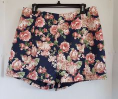 Leith Womens Floral Printed Shorts Size Large #Leith #CasualShorts