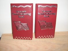 for Elongated Pennies Red Souvenir Penny Collecting Book//Album Set of 2
