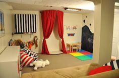 fun basement {playroom} ideas
