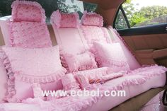 Back seat covers and pillows