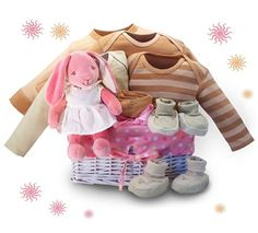Gift Basket for Baby Girl - Organic baby products