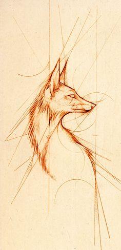 Fox Sketch  http://tattooideas123.co.uk/wp-content/uploads/2013/10/Fox-Sketch.jpg #Animaltattoos, #Others