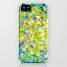 SPLASH 2 - Bright Bold Ocean Waves Beach Ripple Turquoise Aqua Lime Lemon Colorful Rainbow Wow iPhone Case by EbiEmporium - $35.00