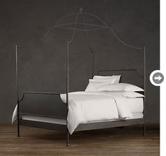 Downton Abbey Style:  There's little more elegant in a bedroom than a four-poster bed and it seems that every stylish boudoir at the Abbey houses one. Try a more contemporary romantic bedroom look in your own home with this distressed iron canopy bed.
