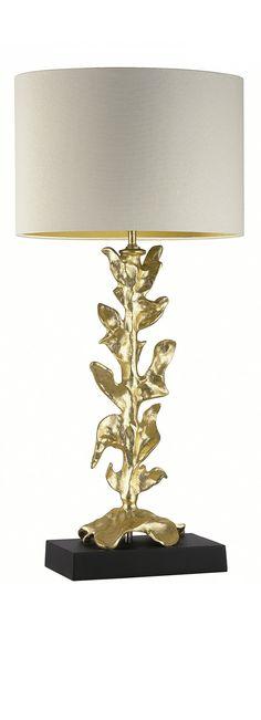 Heathfield Elamis Gold Leaf Table Lamp Luxury Furniture from Absolute Luxury Furniture Luxury Table Lamps, Table Lamps For Bedroom, Bedroom Lighting, Contemporary Table Lamps, Modern Lamps, Modern Table, Interior Exterior, Interior Design, Leaf Table