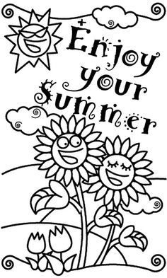 Summer Is Here Coloring Page Free to print PDF file