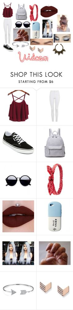 """""""Vidcon"""" by rayneruscheinsky ❤ liked on Polyvore featuring Topshop, Vans, Charlotte Russe, Valfré, Bling Jewelry and FOSSIL"""
