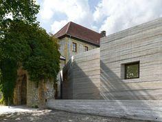Living structure: Visitors' centre at fortress Sparrenburg   Architect: Max Dudler Architekt, Berlin Location: Sparrenburg, Am Sparrenberg, 33602 Bielefeld, Germany