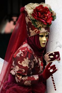 All elements of the Fat Tuesday festivities known as Mardi Gras. Throw in scantily clad women in feather. Venice Carnival Costumes, Mardi Gras Carnival, Venetian Carnival Masks, Carnival Of Venice, Venetian Masquerade, Masquerade Ball, Venice Carnivale, Carnival 2015, Masquerade Costumes
