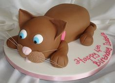 cat cake by Cakes by Carol