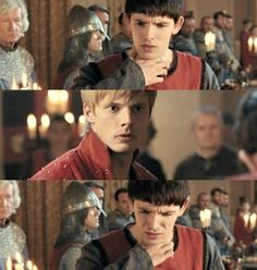 Remember that time when Merlin saved Arthur's life? <--Haha, which time?! But seriously. He's only been a royal servant for a short time, and he is hardly Arthur's friend at this point..but he drank the poison. GAH! Feels.