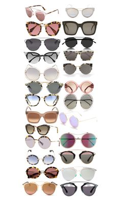 """""""you can never have too many sunglasses"""" by andreapaola78 on Polyvore featuring Miu Miu, Christian Dior, Fendi, Chloé, CÉLINE, Mykita, Prism, Tory Burch, RetroSuperFuture and Gentle Monster"""