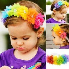Rainbow Headband- READY TO SHIP