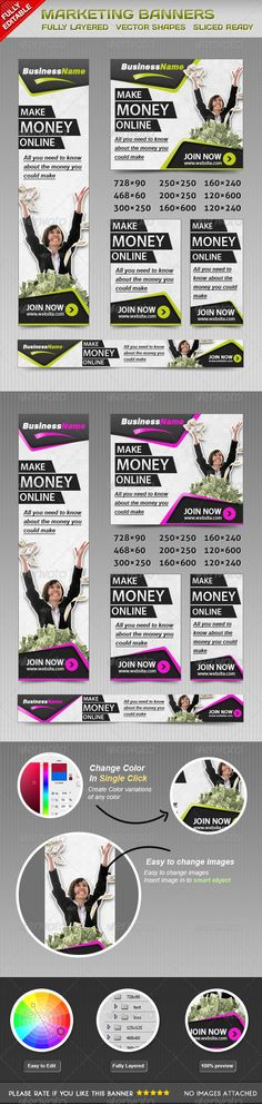 Marketing Web Banners Template PSD | Buy and Download: http://graphicriver.net/item/marketing-banners/4584147?WT.ac=category_thumb&WT.z_author=msrashdi&ref=ksioks