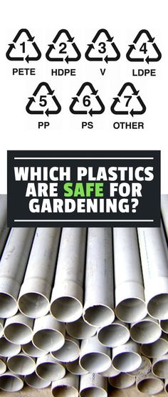 Knowing which plastics are safe for the garden is key to making sure you don't use harmful materials that leach chemicals into your food. #gardeningtips