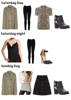Oasis Black Lily High-waisted jeans Oasis Paisley formal tee Tommy Hilfiger Damia sweater H&M Draped top Miss Kg Bonjour ankle boots Oasis Isabella Popper Front Skirt Dune Christa Black Heel
