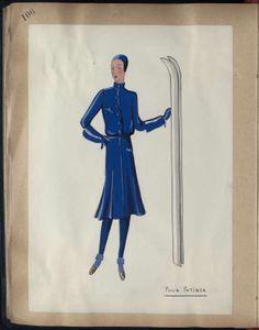 POUR PATINER Paris HIVER SPORT 1929 © Patrimoine Lanvin. #Lanvin125
