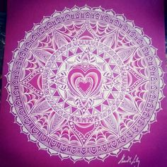 Pink and white mandala