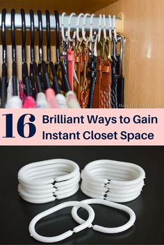 wardrobe organisation diy storage Gain more space in your closet for storage and organizing with these simple tips and tricks. Closet Bedroom, Bedroom Storage, Diy Storage, Storage Organization, Diy Bedroom, Cord Storage, Purse Storage, Trendy Bedroom, Bedroom Ideas