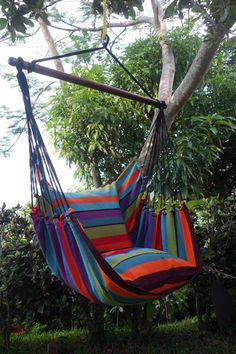 "- Beautiful Extra Large Hammock Chair That is Mold and Fade Resistant - Artisan Hand Crafted Fabric to Last for Years of Enjoyment - Includes Two Matching Pillow Shams (Requires 2 24"" Pillows to fill"