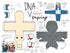 Bts Chibi, Bts Cumpleaños, Bts Jungkook, Taehyung, Paper Toys, Paper Crafts, Diy Crafts, Kpop Diy, Los Bts