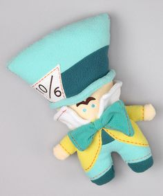 """This is such a cute version of the """"hatter"""".  And this style of softie would be so easy to DIY..."""