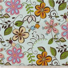 Happy All Over Floral Fabric | Shop Hobby Lobby