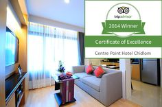 """Centre Point Hospitality committed to Hospitality @ http://www.centrepoint.com/CentrePointChidlom/PageHotel.aspx We are very thankful to our dear guest for sparing their valuable time to leave us this beautiful review _/\_ """"Khob-Khun"""""""