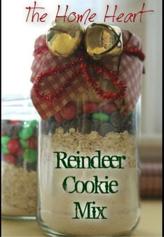 Reindeer Cookies ~ Gift in a Jar Idea