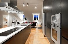 Generously-Sized Penthouse in Stokholm with Striking City Views