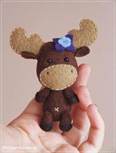 Cute Felt Moose