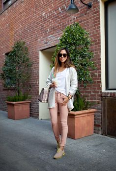 Botkier Eden Satchel, Walker Number One Sunglasses, H&M Cardigan, Obey Jeans, Cole Haan Oxfords x Aimee Song