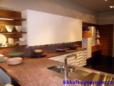 3Д фасады из МДФ в дизайне кухни.