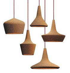 Cork-Clad Suspended Lamps by Seletti / Carlo Trevisani