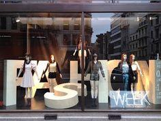 "H&M, london ""Fashion Week"" window"