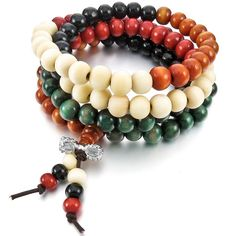 Inblue Sandalwood Bracelet Link Necklace Chain, Multicolor, 8mm ** You can get more details by clicking on the image.