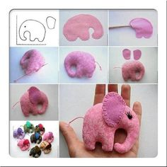 Little Elephant Craft Idea by DIY Craft Projects Kids Crafts, Cute Crafts, Felt Crafts, Fabric Crafts, Sewing Crafts, Diy And Crafts, Sewing Projects, Kids Diy, Elephant Crafts
