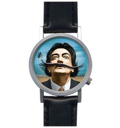 Dali Watch... Hello Dali! This watch has us smiling every time we see Dali's enormous mustaches swivel around his bizarre expression! Watch as they chase an ant around his head. Talk about surreal!