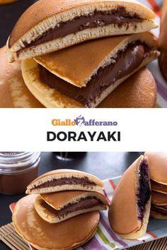 Dorayaki: golose frittelline di origine giapponese che ricordano molto i pancakes americani, ma vengono preparati senza l'aggiunta di grassi e farciti a mò di panino. Semplici e veloci da preparare. Prova la nostra ricetta! #baking #sweet #dessert #breakfast #coalzione #dolce #giappone #cucinagiapponese [Easy homemade dorayaki recipe]