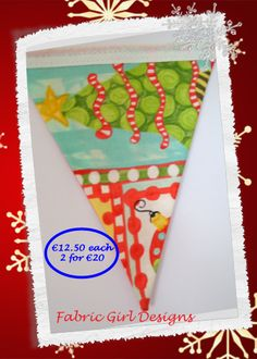 www.facebook.com/fabricgirldesigns Snowman bunting. 1.5 meters length, 100% cotton, fully lined, matching Christmas stockings available.