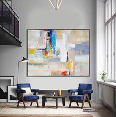 Handmade Extra Large Contemporary Painting Huge di CelineZiangArt