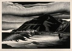 Campers by Paul Landacre. Wood Engraving ~1940