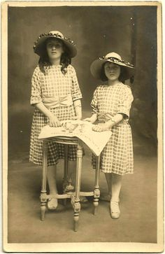 Adorable ORIGINAL Antique 1920s French RPPC / Two by UCRONIA