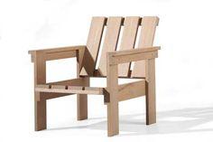 Gerrit Rietveld    Krat-stoel    Hout    1934